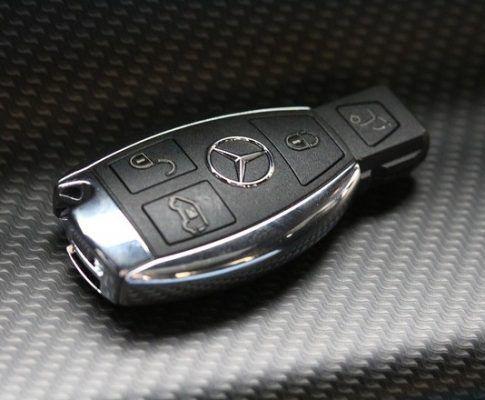 Подмяна на елементите за захранване на чип на ключа Mercedes